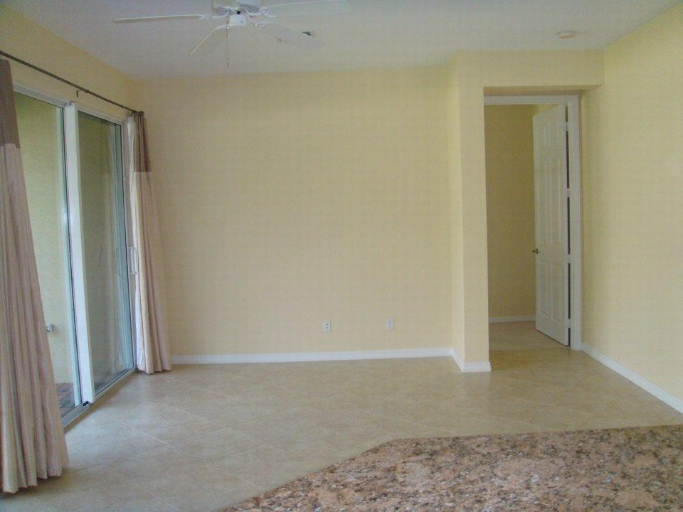 family room, master bedroom through the door