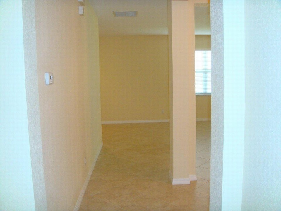 hallway to guest rooms from the living room