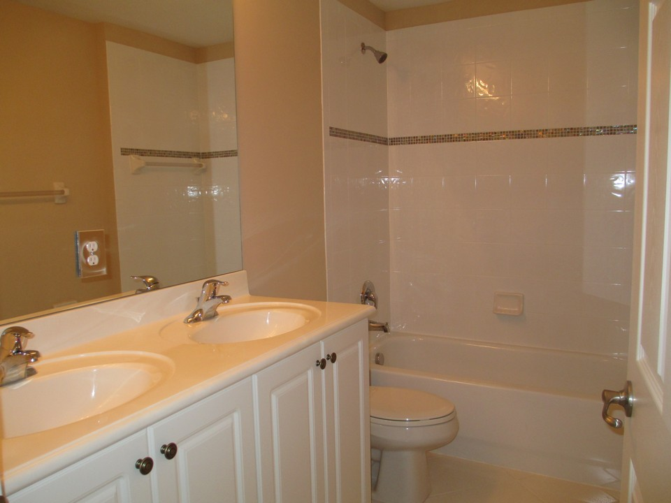 bath on 2nd. floor with raised counters, double sinks