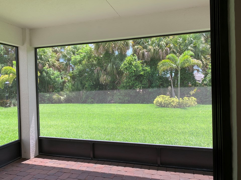 screened covered patio