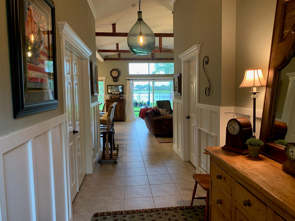 foyer entrance looking to patio and lake